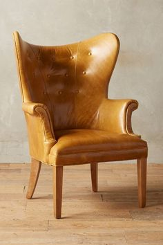 Leather Wingback Chair #anthrofave