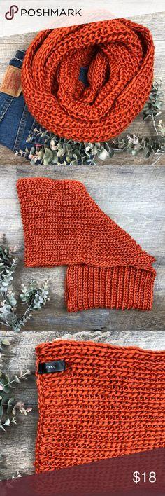 Rikka Orange Loose Knit Infinity Scarf Adorable Rikka loose knit infinity scarf! In excellent condition. 100% polyester. (D-27. B) Rikka Accessories Scarves & Wraps