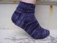 These socks are designed with the first-time sock knitter in mind. Sock knitting can seem daunting, but it doesn't have to be. All you need to be able to do is work in the round, decrease and pick up stitches, and you can make these socks!
