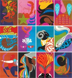 60s Zodiac Prints by Simboli Design
