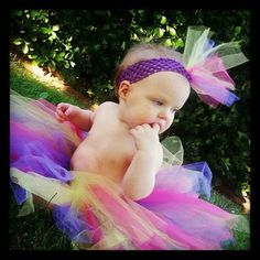 Tutus for baby girls with matching tule headbands by AdleesTutus