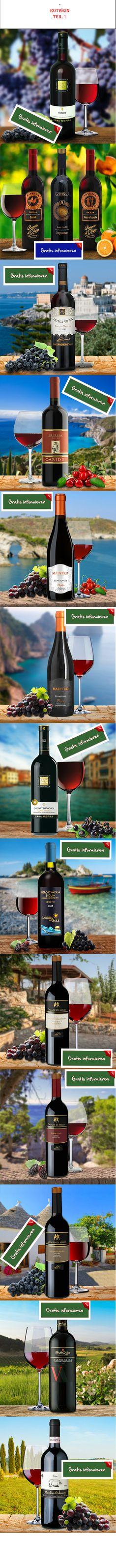 13 Sorten Rotwein aus Italien, diesmal wieder in Farbe! Hier klicken: http://blogde.rohinie.com/2013/01/rotwein/ #Italien #Weisswein #Sizilien #Venetien #Suettirol