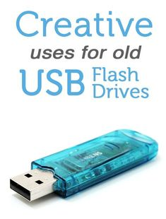 Have old USB flash drives lying around? Find out how to put them to creative use.