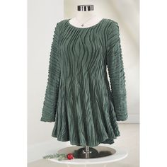 Wavy Flared Tunic - Women's Clothing, Unique Boutique Styles & Classic Wardrobe Essentials