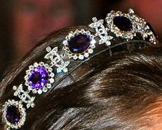 The Napoleonic Amethyst Tiara, Sweden (ca. 1825; amethysts, diamonds, gold, silver).