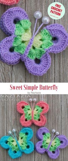 Free Crochet Pattern with US terms. Another fabulous Naztazia's project – applique which is great for the hats, shawls, scarves, purses, curtains, or others. Clear and