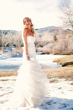 Gown by Vera Wang via Anna Be' in Denver. Photography by brintonstudios.com and twoonephotography.com
