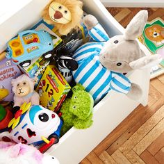 Stuff their toy box with treasures.