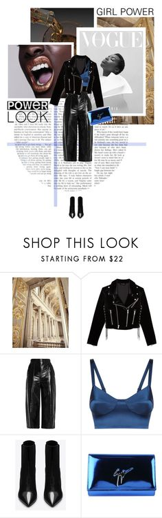 """""""GIRL POWER: Power Look"""" by elaine-thai ❤ liked on Polyvore featuring The Kooples, MSGM, La Perla, Yves Saint Laurent, Giuseppe Zanotti, girlpower, polyvorecontest and powerlook"""