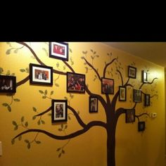 Hand painted Family Tree, I will make my children paint this for my dining room.