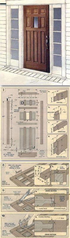 Making Raised Panel Entry Doors - Door Construction and Techniques | WoodArchivist.com