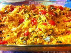 Ricetta Paella con pollo e verdure: la mia ricetta per fare la paella senza paellera, ma con tutto il gusto delle verdure di stagione. Facile e gustosa.