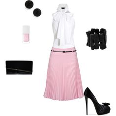 I love pink and black together! I probably wouldn't wear this though...I'm really never this dressed up :)
