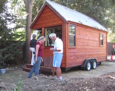 Teenager builds tiny house to live in while in highschool and college. Video included. Cool project for teenage boys.