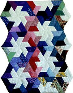 half hexagon pinwheel quilt pattern :)