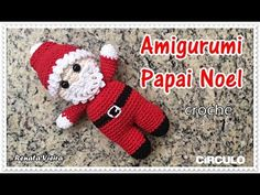 Tomorrow is the last day to enter my giveaway if you wanted to win a macrame piece (next post along for details) anyone who's already entered; make sure I've commented on your post, so you know I have your entry. Amigurumi Doll, Amigurumi Patterns, Crochet Patterns, Crochet Santa, Crochet Dolls, Crochet Christmas Ornaments, Christmas Decorations, Cute Kids, Teddy Bear
