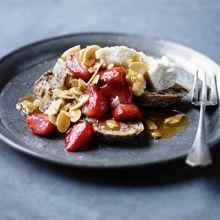 Strawberry brunch bruschettas