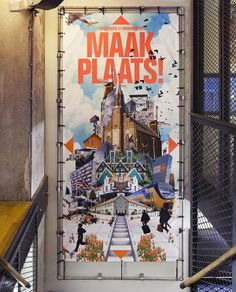 Maak Plaats! by Florian Mewes/Alfons Hooikaas via Behance