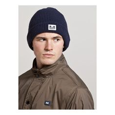 Weekend Offender Wolf Beanie - Navy