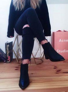 #acnestudios 'jensen' bootie