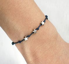 of July Bracelet, of July Anklet, July Stars Bracelet, Star Bracelet, Star Anklet (many colors of thread to choose) Diy Jewelry, Beaded Jewelry, Jewelery, Jewelry Accessories, Handmade Jewelry, Jewelry Making, Opal Jewelry, Gold Jewelry, Vintage Jewelry