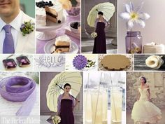 {Lilac + Lemonade}: A Palette of Plum, Lavender, Camel, Light Yellow, Ivory + White via the Perfect Palette xo