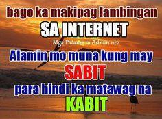 Sabit at Kabit Quotes : Wag maglambing sa Internet alamin mun kung may sabit Patama Quotes, Tagalog Quotes, Qoutes, Funny Hugot Lines, Filipino Quotes, Hugot Quotes, I Love My Son, Anime Films, Pinoy