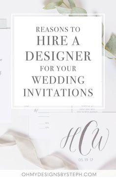 Wedding planning? Considering custom wedding invitations? Reasons to work with a professional designer (versus ordering from a large website)