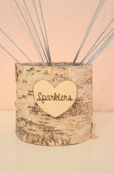 Wedding Sparklers Birch Basket wedding by BellaBrideCreations