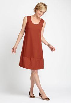 Hemmed Dress (FLAX Fall 2013) - Red Onion Clothing