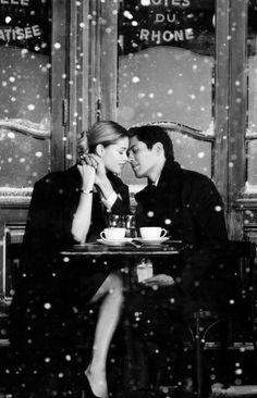 ♡.. ღ ..♡ to romantically seduce me, at a french cafe while the snow falls down on a lovely winter night . . .