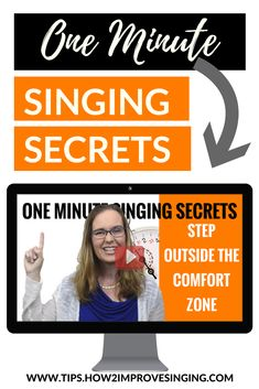 In this one minute video, you will learn why you need to step outside the comfort zone to progress in your singing development.