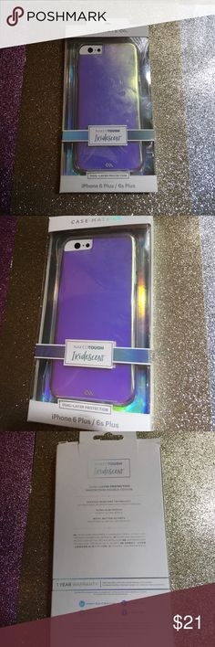 CaseMate Iridescent case iphone 6s/6 plus Slightly used with light scratches, still in retail box, in great condition from smoke free clean home case mate Accessories Phone Cases