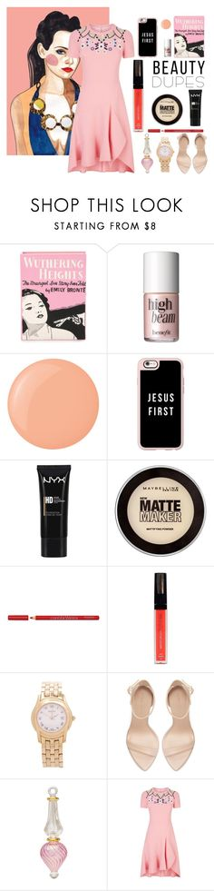 """""""womem"""" by jasmimestefany ❤ liked on Polyvore featuring Olympia Le-Tan, Benefit, Casetify, NYX, Maybelline, Bourjois, Isadora, Gucci, Zara and Cultural Intrigue"""