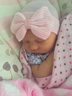Baby hospital hat baby girl hat newborn hat by ButtercupsBeanies
