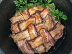 Dutch Oven Peppered Bacon Meatloaf takes the classic comfort food to the next level by adding sausage and thick cut peppercorn bacon. Dutch Oven Recipes, Keto Recipes, Cooking Recipes, Bacon Meatloaf, Cast Iron Dutch Oven, Ground Beef, Food Print, Main Dishes, Stuffed Peppers