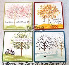 Frühling, Sommer, Herbst und Winter: Grußkarten für jede Jahreszeit #stampinup #Baum #Bäume #Karte #Grußkarte #Jahreszeit #Freundschaft