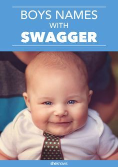 Baby Boy Names With Serious Swagger for Effortlessly Cool Kids - Awesome Baby Names - Ideas of Awesome Baby Names - These baby boy names have some serious staying power. Baby Boy Names Strong, Cool Baby Boy Names, Unique Boy Names, Little Boy Names, Unusual Baby Names, Cool Baby Stuff, Kid Names, Names Baby, Baby Boy Middle Names