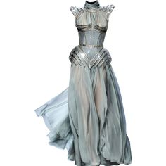 Satinee's collection - J.P.Gaultier ❤ liked on Polyvore featuring dresses, gowns, long dresses and vestidos