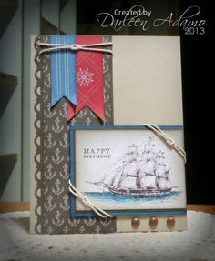 SC421~Nautical Birthday by darleenstamps - Cards and Paper Crafts at Splitcoaststampers