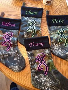 Male Mark Camo Stockings by AdorableBlankets on Etsy