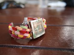 Weave yourself a colourful watch band!