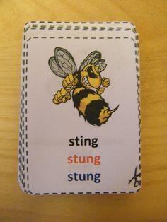 irregular verbs flashcards