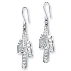 7dea9f4fad29 Tiffany   Co Outlet 1837 Collection Silver Drop Earrings