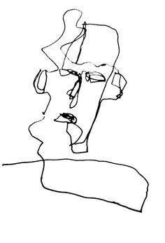 continous line drawing Blind Contour Drawing, Contour Drawings, Art Sketches, Art Drawings, Drawing Faces, Digital Painting Tutorials, Art Tutorials, Continous Line Drawing, Light Art