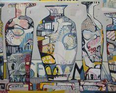 "Saatchi Art Artist Anna Hymas; Painting, ""Chinese Ming Vases II (Sold)"" #art"