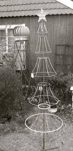 christmas tree lamp shade frame - Google Search