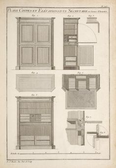 One of hundreds of thousands of free digital items from The New York Public Library. Drawing Furniture, Creative Portfolio, New York Public Library, Classic Furniture, Creative People, String Art, Furniture Plans, Carpentry, Floor Plans