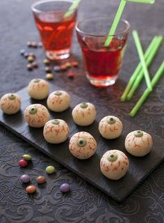 Yeux d'Halloween façon boule coco - halloween monster's eyes recipe