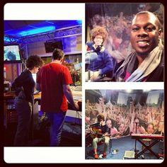 Photo by deVon Gray: Live uit Llyod #rotterdam #radio #rijmond @chastity_brown @rtv_rijnmond Awesome radio show.